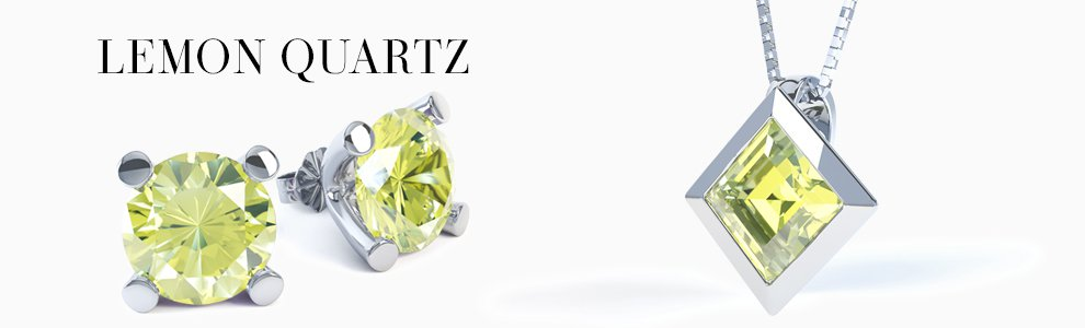 Lemon Quartz Jewellery - from Earrings studs and drops to Pendants to Engagement Rings